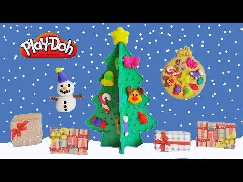 Play-Doh Christmas Tree Snowman & Ornaments Dough-tacular Christmas...
