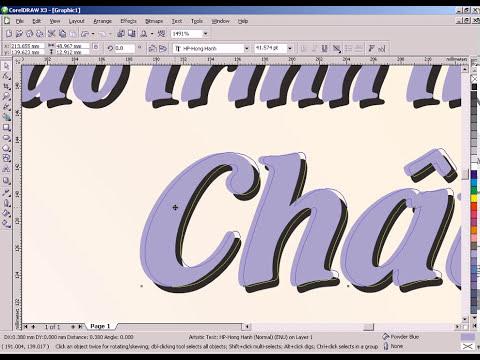 Giáo trình thiết kế quảng cáo chuyên nghiệp CorelDraw X3. Ep 2.3