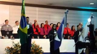 colação de grau da Náthaly Gorato hino nacional brasileiro
