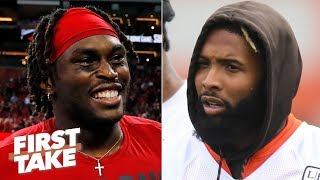 Julio Jones is a better WR than Odell Beckham Jr. and Antonio Brown - Max Kellerman | First Take