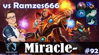 Miracle - Invoker MID | 7.10 Update Patch | vs Ramzes (DK) | Dota 2 Pro MMR Gameplay #92