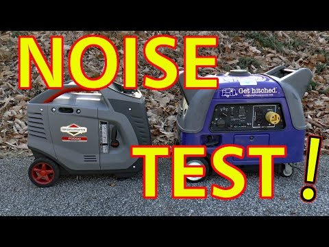 YAMAHA vs. BRIGGS & STRATTON -- RV Inverter Generator Noise Test!