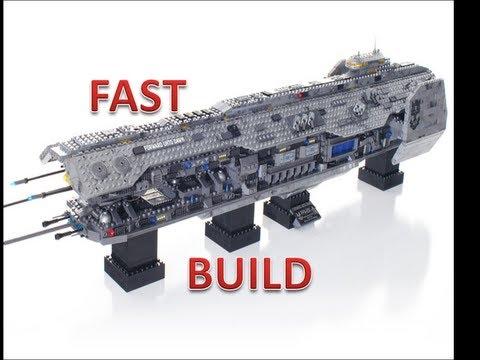 Fast Build: Forward Unto Dawn. Halo Mega Bloks. TheSSMotion