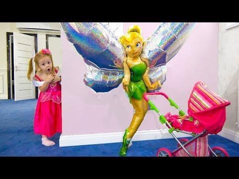 Странные игрушки спрятали куклу беби бон Приключения в загадочном доме Funny toys and brave Nastya