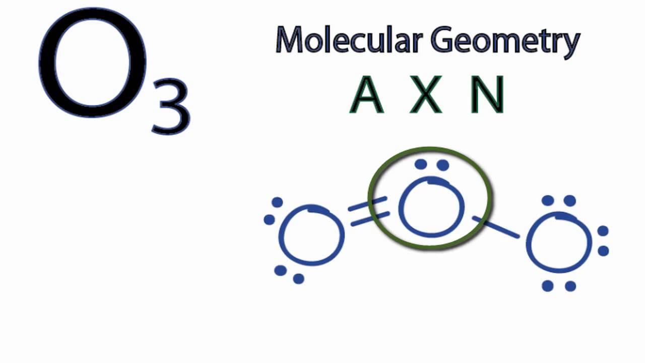 Ozone Structural Formula O3 Molecular Geometry  Shape