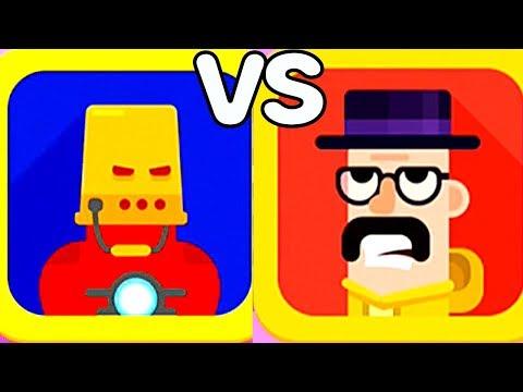 Bowmasters #9 Мультик Игра про ДУЭЛЬ ГЕРОЕВ на Детском канале Kids Play