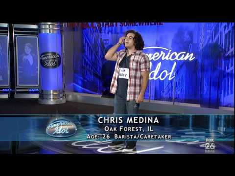 American Idol 2011 Chris Medina Fiance Has Brain Damage and Sings His Heart Break Even For her [HD]