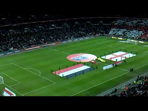 Wembley: England V Egypt - National Anthems video