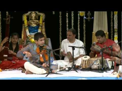 Arun's Violin Arangetram - Kundrathile Kumaranukku video