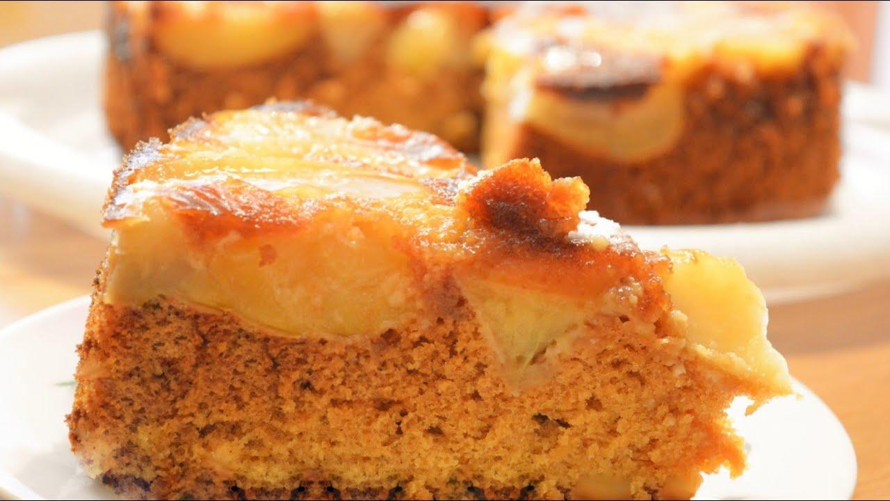Бисквит с яблоками в духовке рецепты
