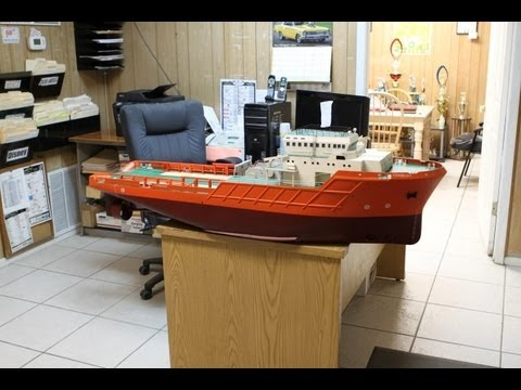 54 inch R/C Anchor Handling Tug/Tow Boat Steering and Throttle Testing