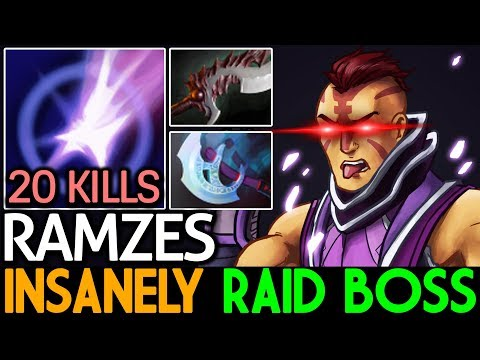 RAMZES [Anti Mage] Insanely Raid Boss - 20 Kills 7.15 Dota 2