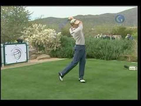 Henrick Stenson Heels a 3-Wood At Accenture Match Play