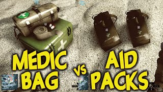 Battlefield 4 Medic Bag vs First Aid Packs - BF4 Which Is Better Medic Bag or Aid Pack?