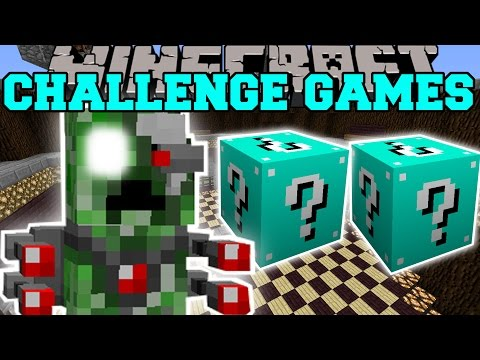 Minecraft: ROBOT ALIEN CREEPER CHALLENGE GAMES - Lucky Block Mod - Modded Mini-Game