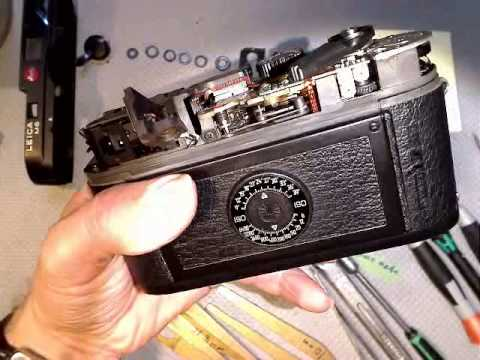 working with slow gear train in leica m6________motion