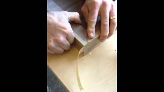 Table top miter folded edges