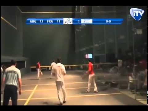 Mondial Pelote Basque Mexique 2014 - Finale Gomme Creuse Trinquet - France contre Argentine