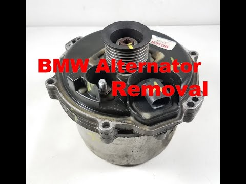 BMW X5 4.4 740 540i Water Cooled Alternator Removal E39