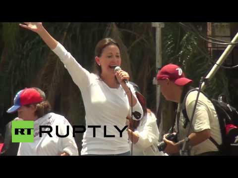 Venezuela: Protesters call for release of jailed opposition leader