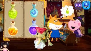 Thơ Nguyễn chơi game học các phép thuật của bà phù thủy P1