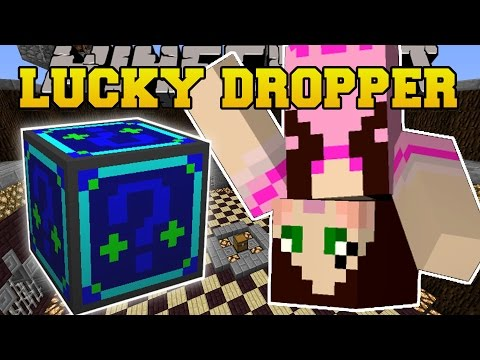 Minecraft: DROPPER CHALLENGE GAMES - Lucky Block Mod - Modded Mini-Game