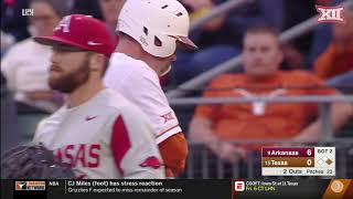 Arkansas vs Texas Baseball Highlights - Game 1