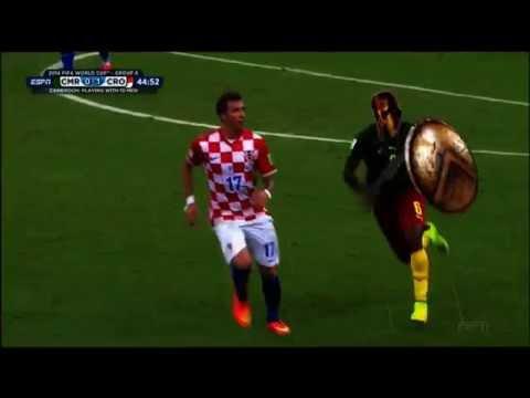 Song vs Mandzukic - ( Sparta ) Cameroon - Croatia 0:4 Red card - foul