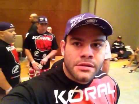Gabriel gonzaga before Ben Rothwell fight UFC FX7 room Image 1