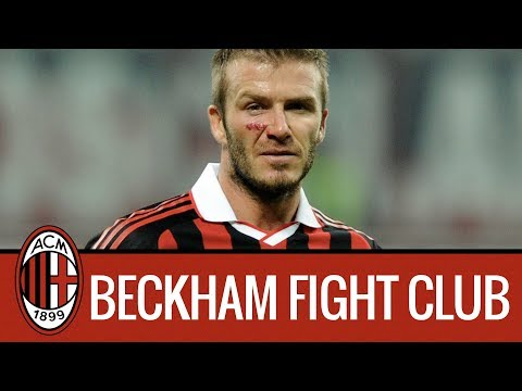 David Beckham and Ac Milan in Fight Club.