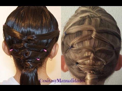 Peinado Con Coletas  Peinados Para Ninas  Peinados Sencillos y Faciles  Cositasymanualidades