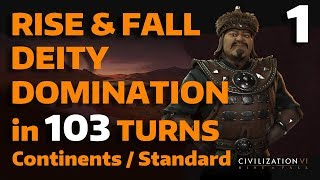 Civ 6: Rise&Fall - T103 Deity Domination - Mongolia - Part 1