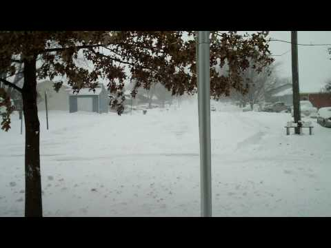 Iowa Blizzard, Winterset Iowa