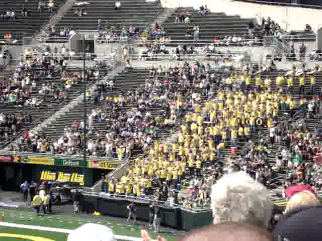 """""""Shout"""" played after 3rd quarter at Autzen Stadium during UO spring game 4-28-2012"""