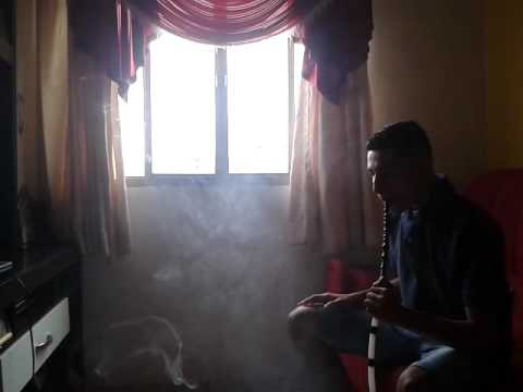 Fazendo bolinhas com fumaça de arguile 😂😍