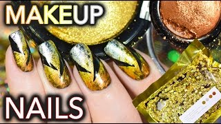 Nails using $$$ makeup! Metalmorphosis 005 Kit GOT NAILED