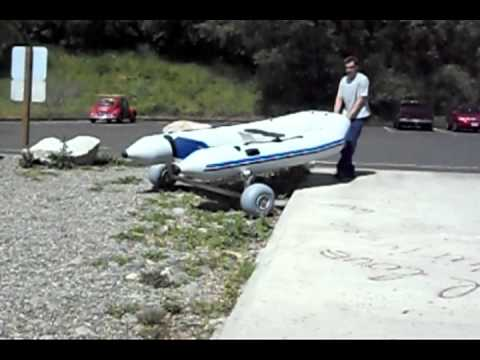 Wheeleez Boat Dolly Rolling Over Gravel And Curbs Youtube