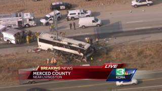 5 killed in bus crash in Merced County