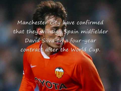 David Silva signs for Manchester City