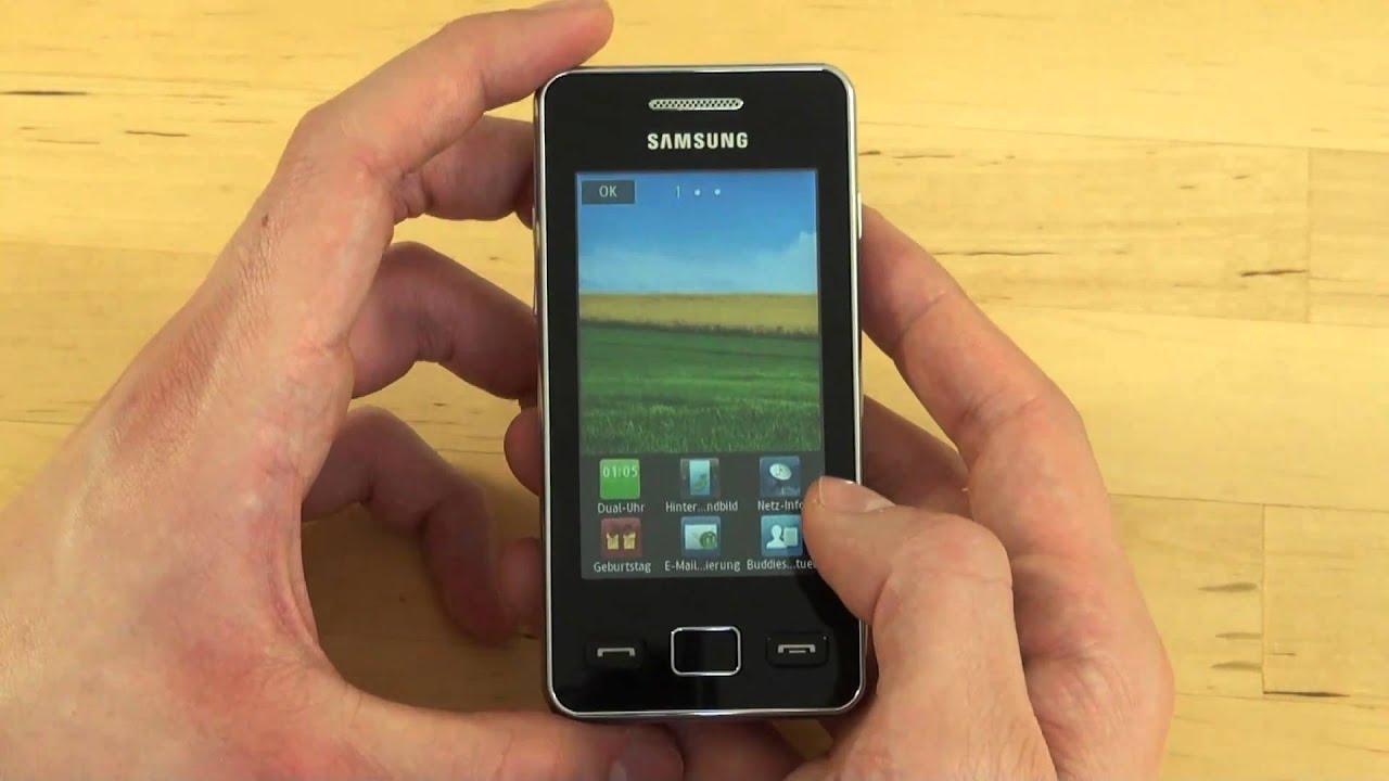 Samsung S5260 Star II Test Bedienung - YouTube