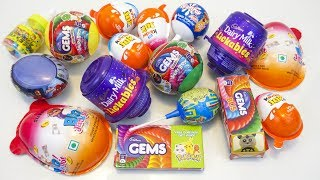 Kinder joy and other interesting toy candies surprise eggs opening