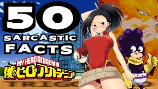 50 SARCASTIC ANIME FACTS - MY HERO ACADEMIA TOURNAMENT (Don't Get Triggered/Laugh Challenge)