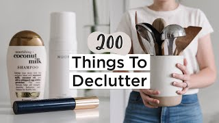 200 Things to Get Rid of in 2020   Ultimate Decluttering Guide   + Free PDF Checklist