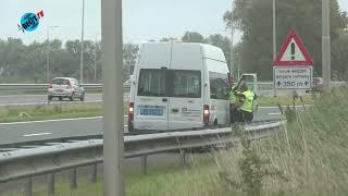Ambulance naar A9 bij viaduct Nijenburgerweg Heiloo (20 september 2018)
