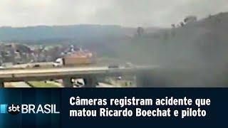 Câmeras de segurança registram acidente que matou Ricardo Boechat e piloto | SBT Brasil (12/02/19)