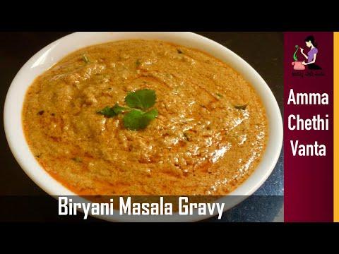 బిర్యానీలోకి టేస్టీ మసాలా గ్రేవీ-Onion Ka Salan Recipe | How To Make Biryani Gravy Recipe In Telugu