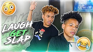 IF YOU LAUGH 🤣 YOU GET SLAPPED!! 👋🏽 (W/ My BROTHER)