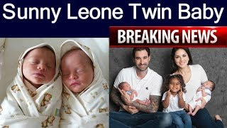 Sunny Leone Blessed With Twin Babies | Named Asher And Noah | sunny leone