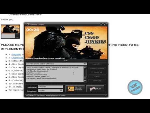 [How To] Play Counter-Strike Global Offensive Online Using Junkies Client Tutorial