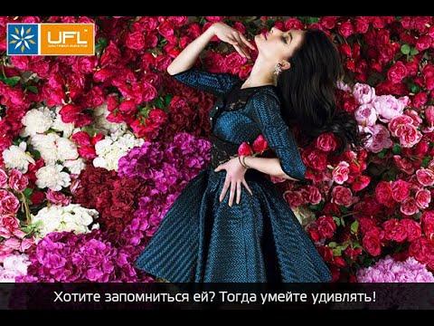 """Букет из красных роз """"Единственная моя"""", 20 алых и одна белая роза - UFL / u-f-l.net"""